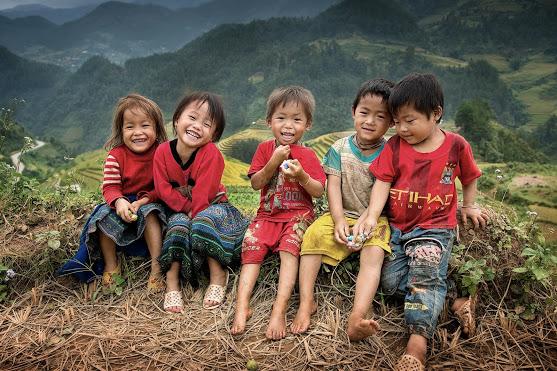 sorrisi dai bambini del Vietnam , by sarawut Intarob